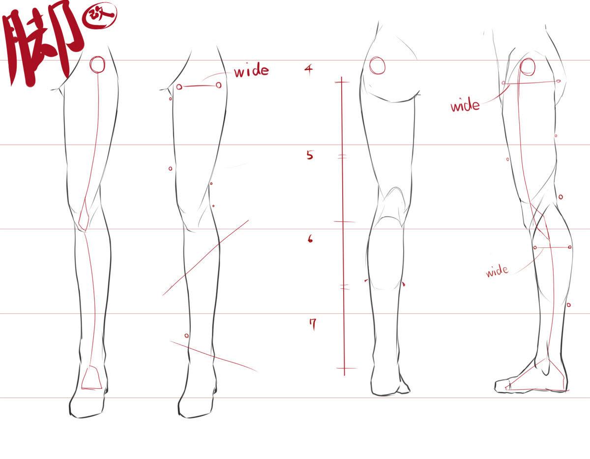 印に注目脚の描き方改 萌え絵イラストお絵描き講座