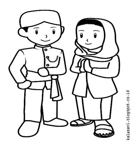 Mirzan Blog S 30 Ide Keren Gambar Anak Laki Dan Perempuan Kartun Hitam Putih