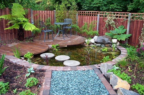 contemporary garden pond ideas photo - 4