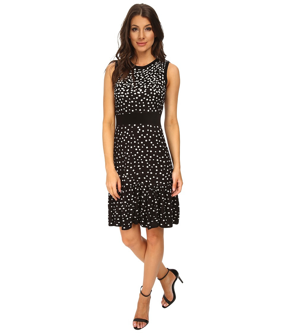 Eliza J - Sleevless Drop Waist (Black\/Ivory) Women's Dress