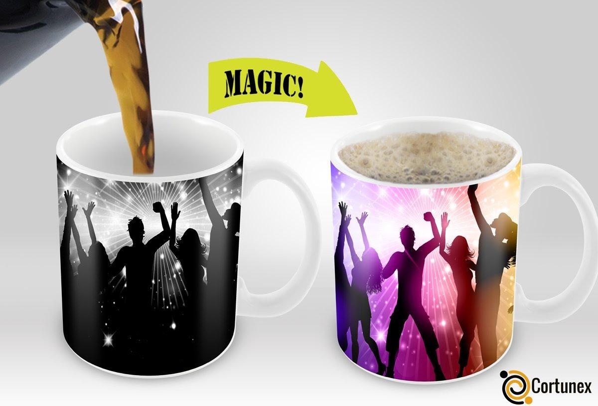 Magic Coffee Mugs Travel Mug Heat Sensitive Color Changing Stainless Steel Coffee Mug Good Gift ...