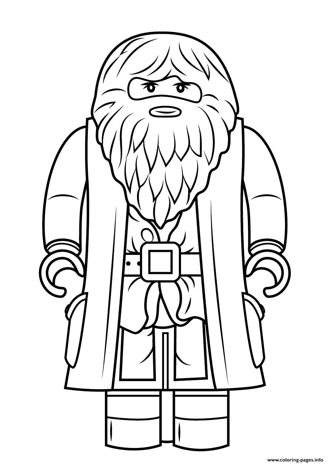 Lego Rubeus Hagrid Minifigure Harry Potter coloring pages