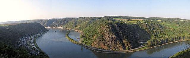 Loreley rock in Rhineland