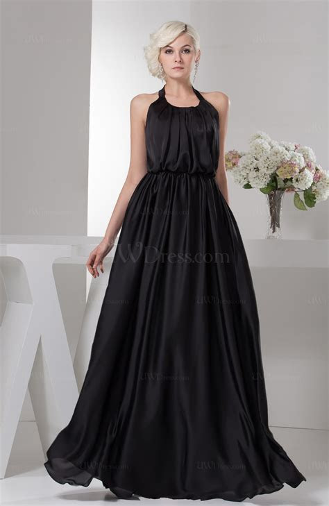 Black Beach Bridesmaid Dress Unique Open Back Destination