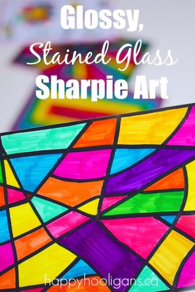 Stained Glass Sharpie Art
