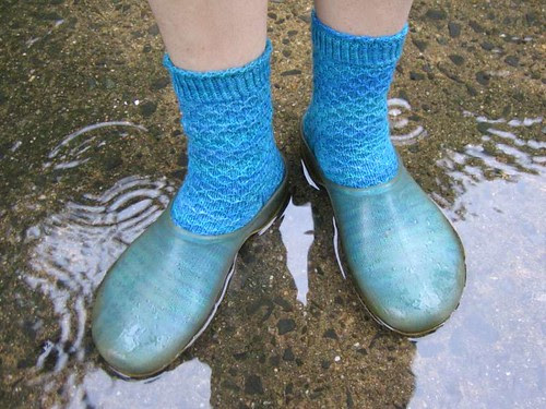 Green Merino Socks