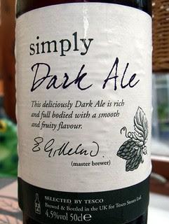 Marston's (Tesco), Simply Dark Ale, England