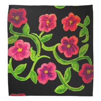 Petunia Flower Design on Bandana