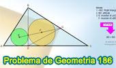 Problema de Geometría 186. Triangulo Rectángulo, Altura, Incentro, Congruencia, Triangulo Isósceles.