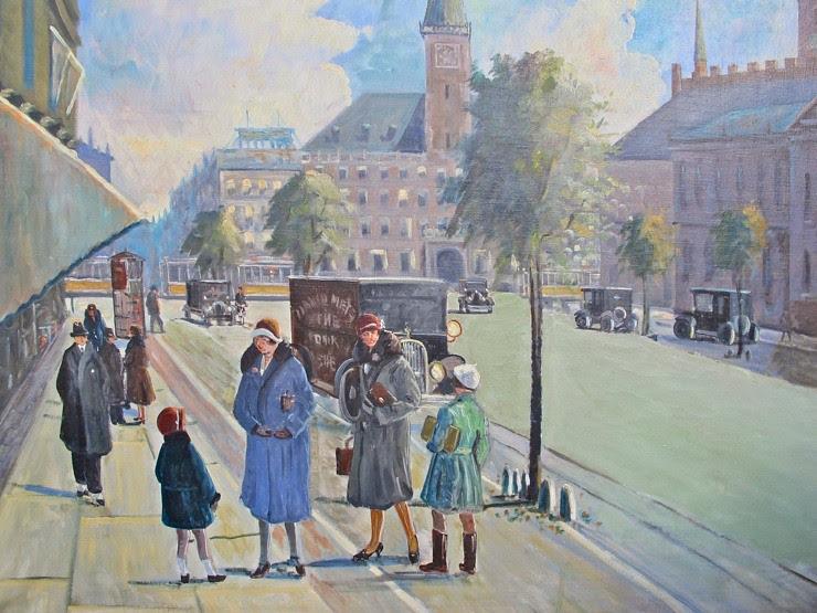 Vintage Copenhagen street scene