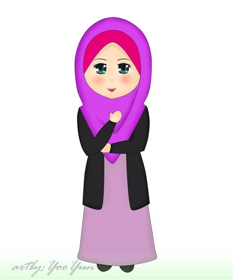gambar wallpaper kartun muslimah gudang wallpaper