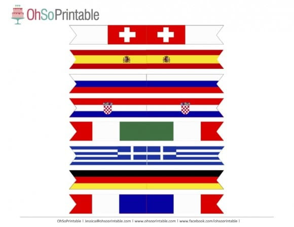 FIFA World Cup Soccer 2014 Free Party Printable Flags | Catch My Party.com