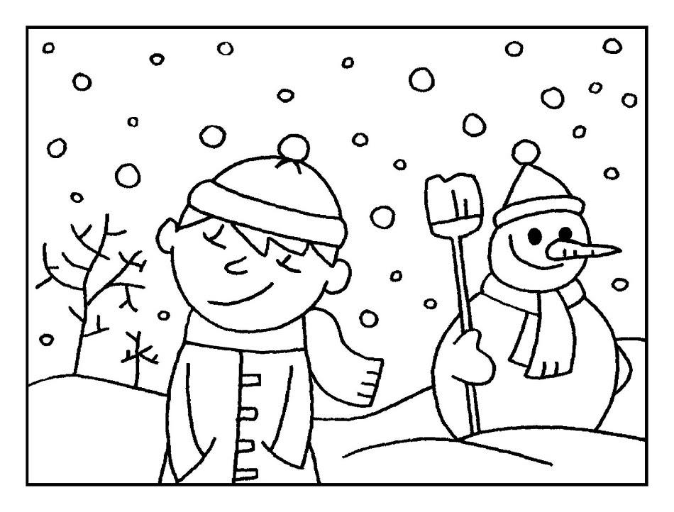 Invierno Dibujos Para Colorear