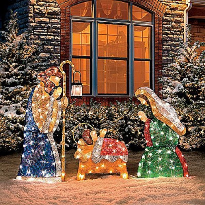 Christmas decoration outdoor nativity giveaway party outdoor christmas decor ideas home designing aloadofball Image collections