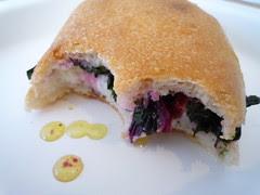 ricotta & greens sandwich