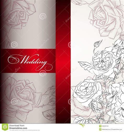 Elegant Wedding Invitation Card For Design Stock Vector