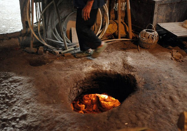 Some of the more creative villagers dug tunnels under their homes and used the gas to create basic underfloor heating systems