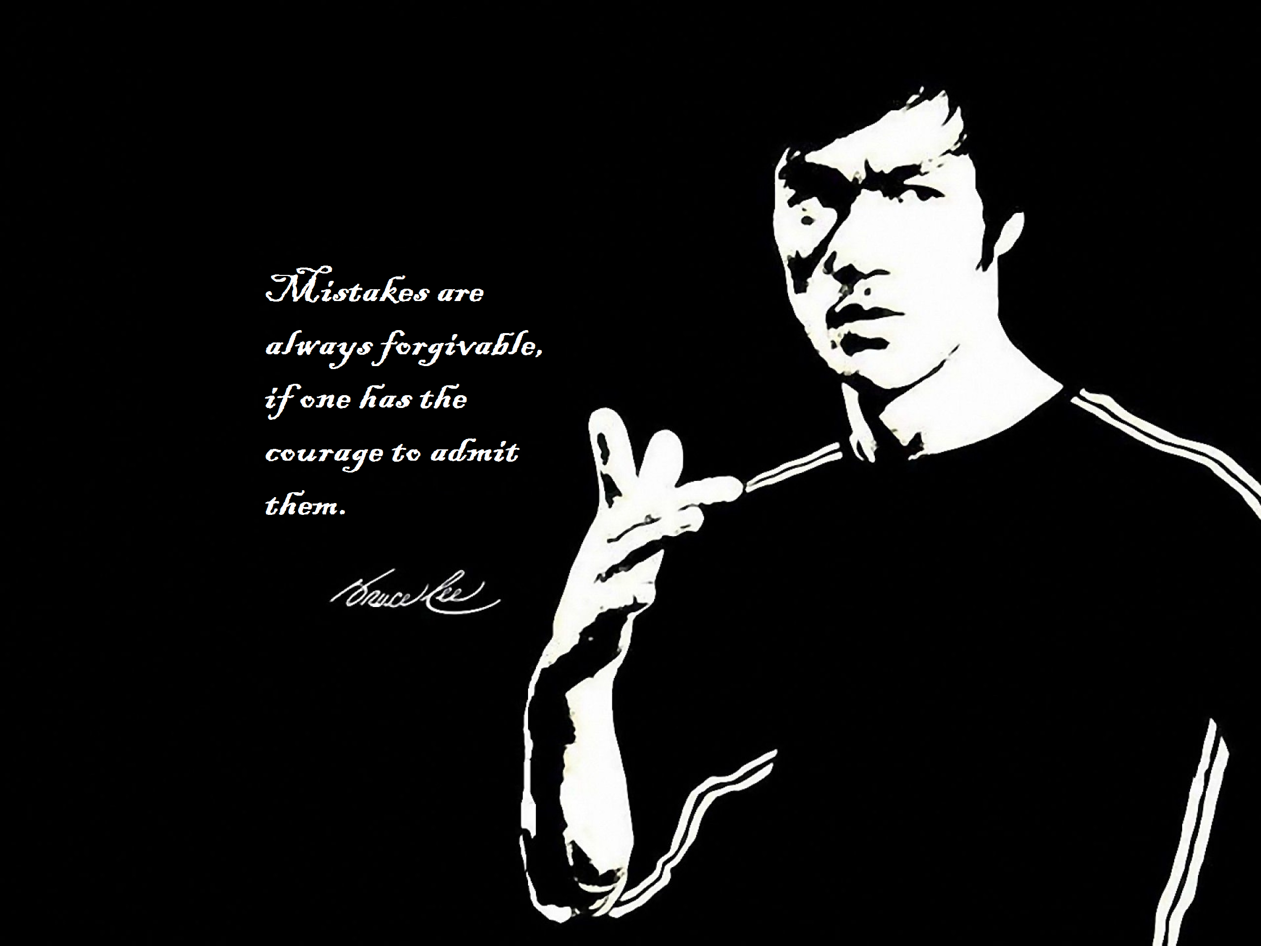 Bruce Lee Live By Quotes
