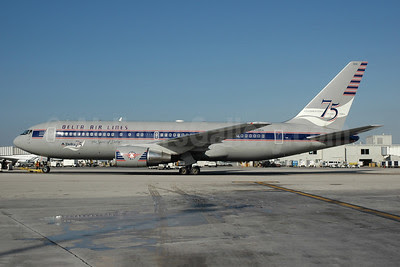 Delta Air Lines Boeing 767-232 N102DA (msn 22214) (Spirit of Delta-Celebrating 75 Years 2004) MIA (Bruce Drum). Image: 100087.