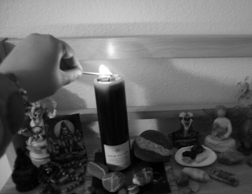 bringing ritual in: candle lighting practice