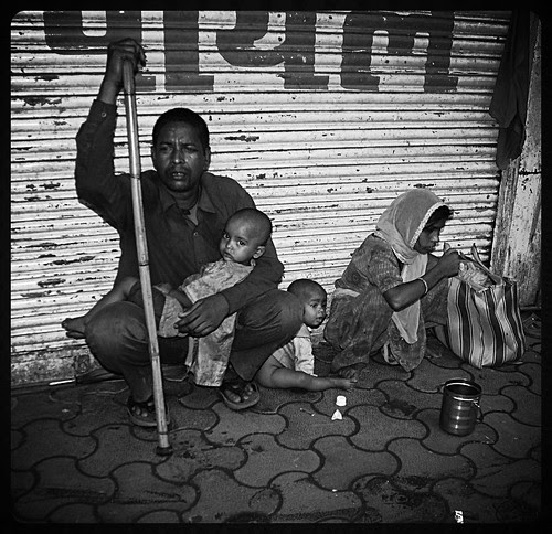 The Muslim Blind Beggar Family Pydhonie by firoze shakir photographerno1