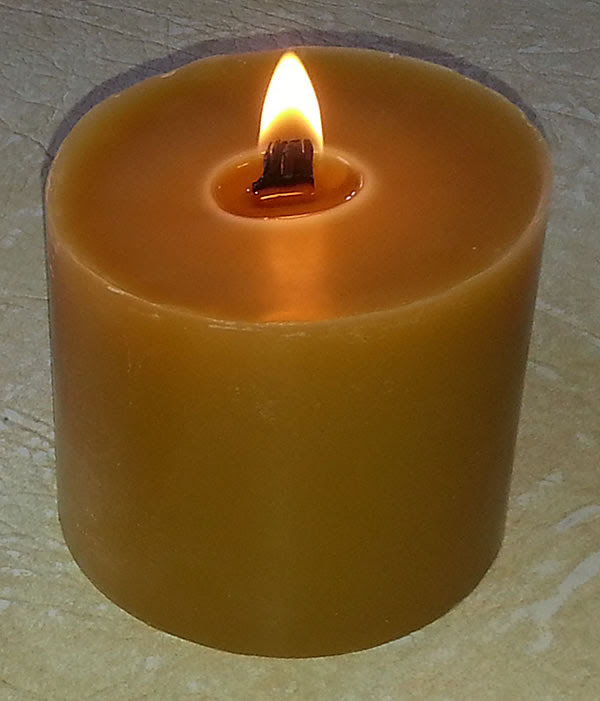 Beeswax Wooden Wick Candles. They burn very well and add a ...