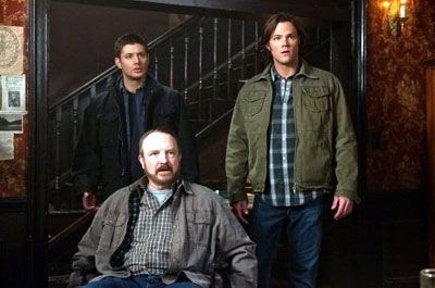 Sam, Dean and Bobby confront the Apocalypse in SUPERNATURAL.