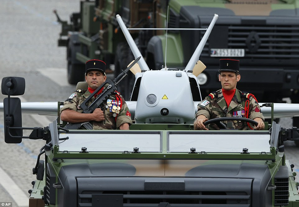 French troops are currently deployed in the Central African Republic fighting Islamic extremists where real-time surveillance is provided by heavily-armed drones