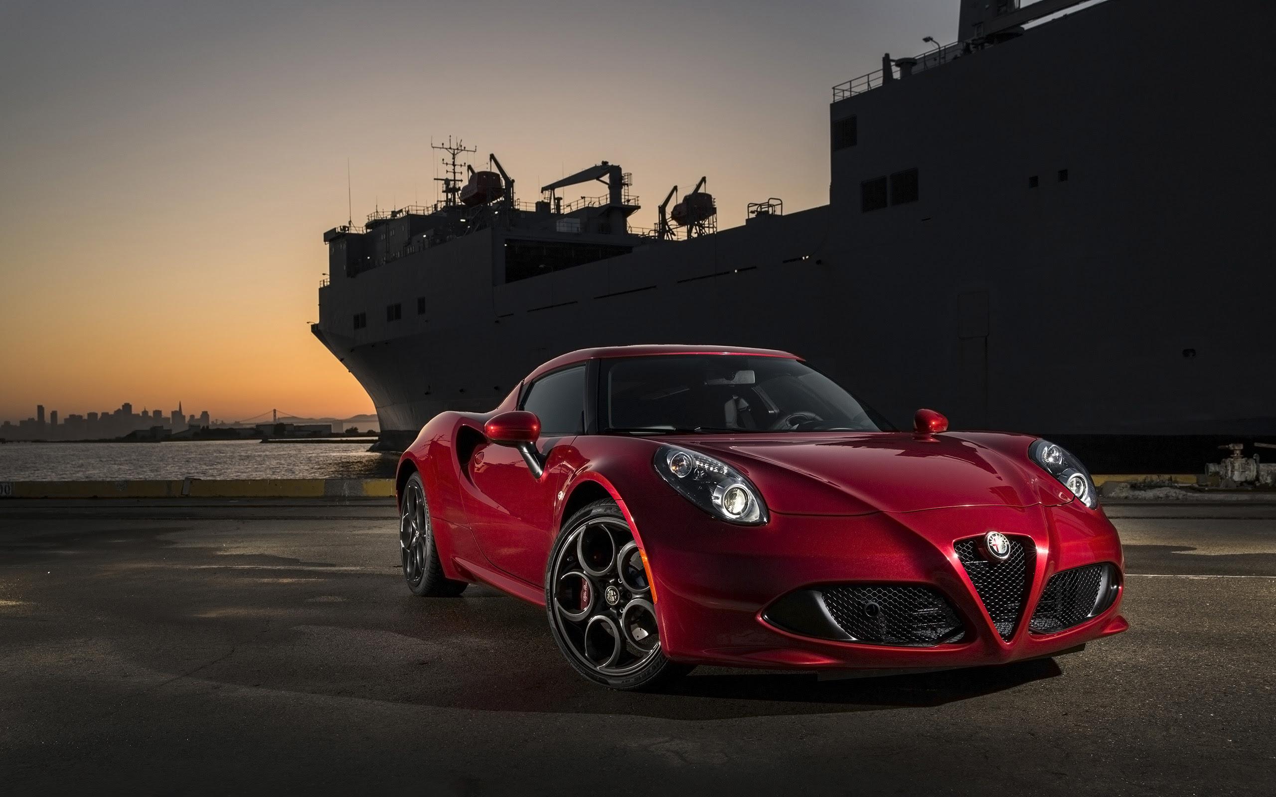 2015 Alfa Romeo 4C Red Wallpaper  HD Car Wallpapers