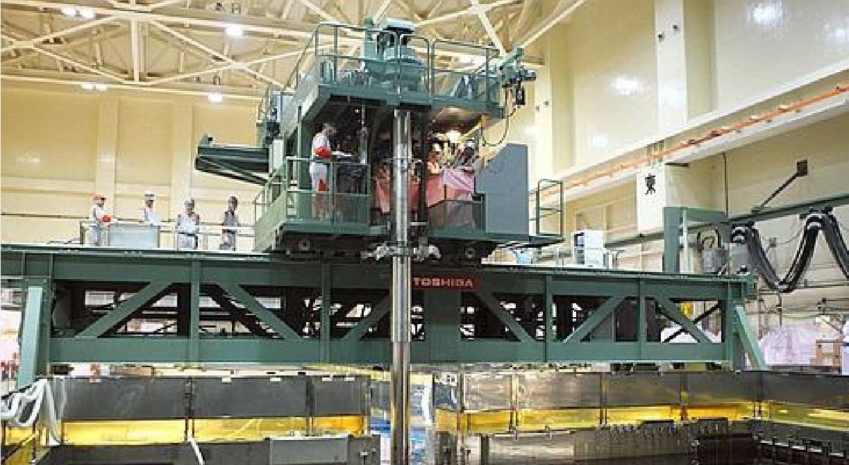 Fig. 54 : La machine de réapprovisionnement en combustible en état de marche avant mars 2011