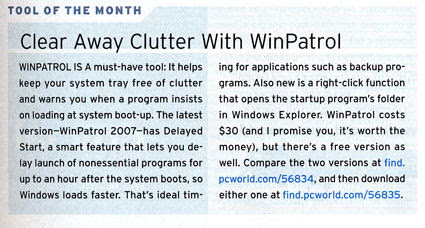 Tool of the Month, June 2007 PC World