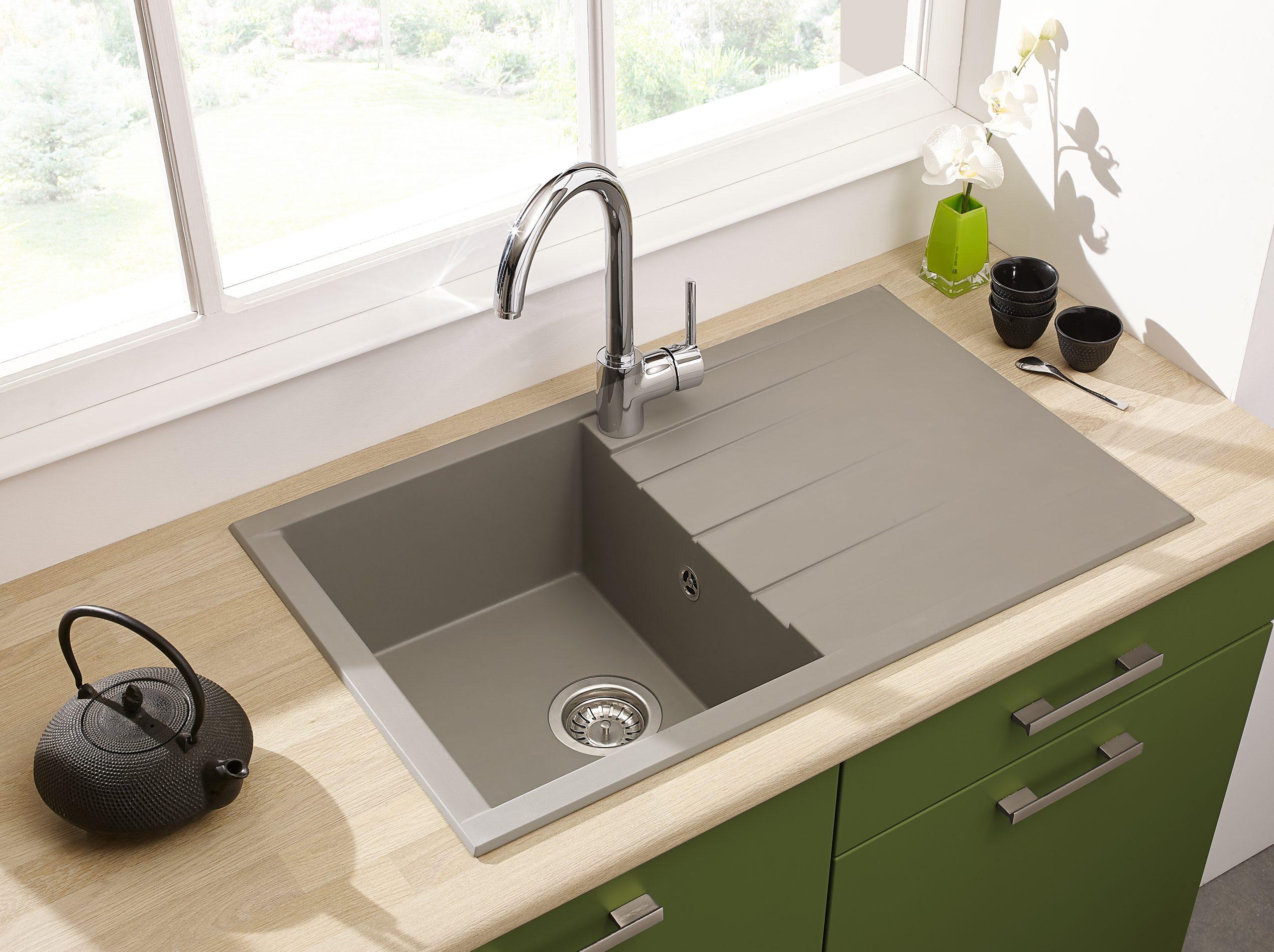 Spülbecken Küche Welches Material Emaille Terrazzo ...