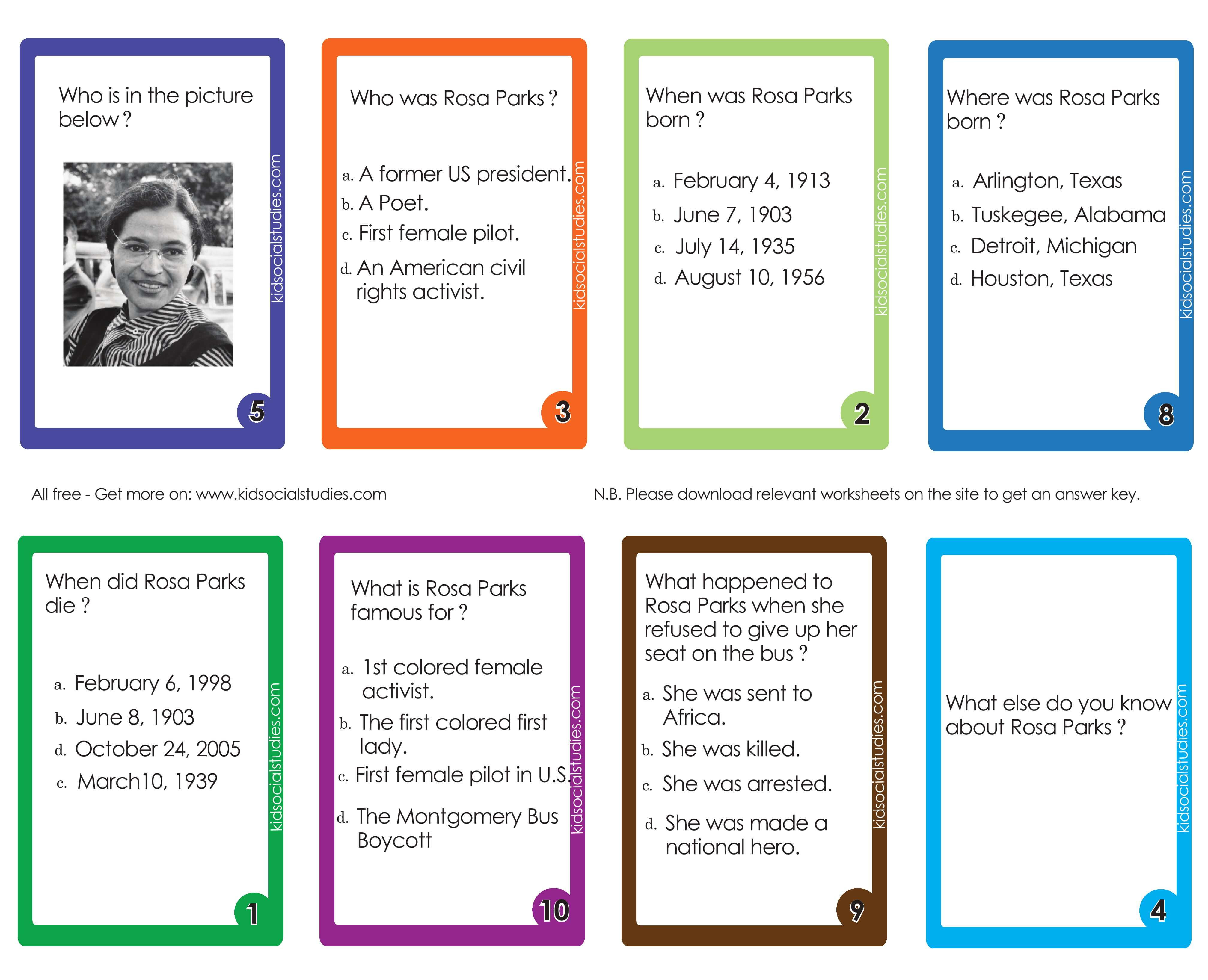 Rosa Parks Pictures Printable