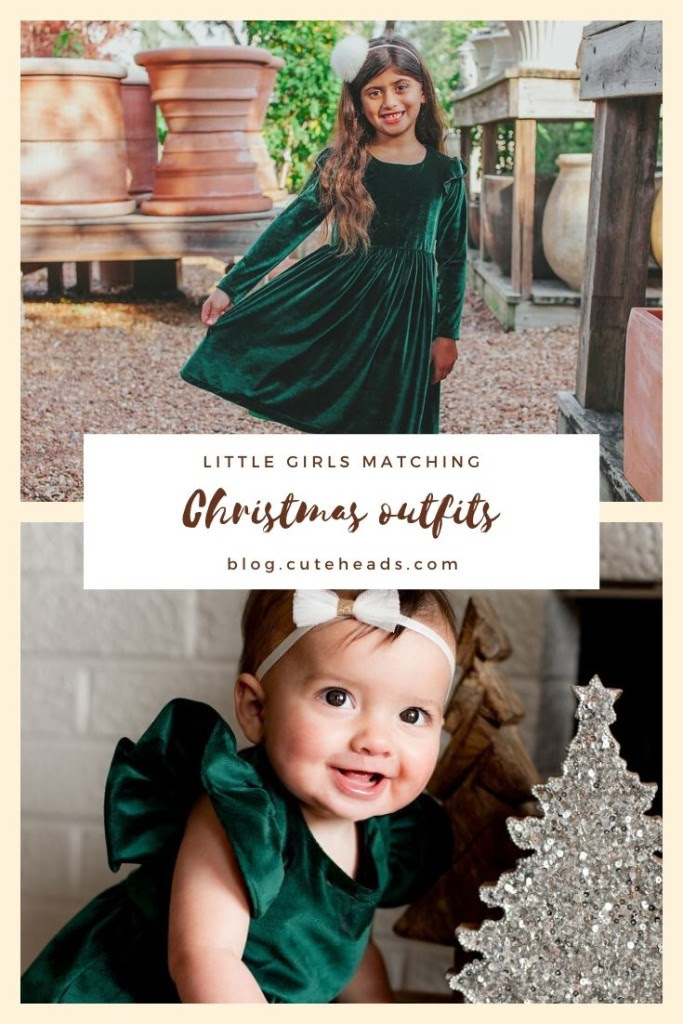 little girls matching Christmas outfits -- blog.cuteheads.com