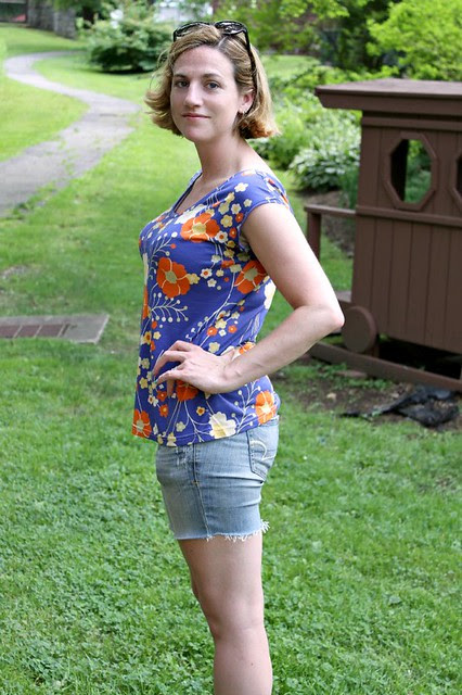 Blue flower Casual Lady by Kitschy Coo