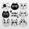 QUY LE - Kitty Cat Stickers - Cute Pet artwork