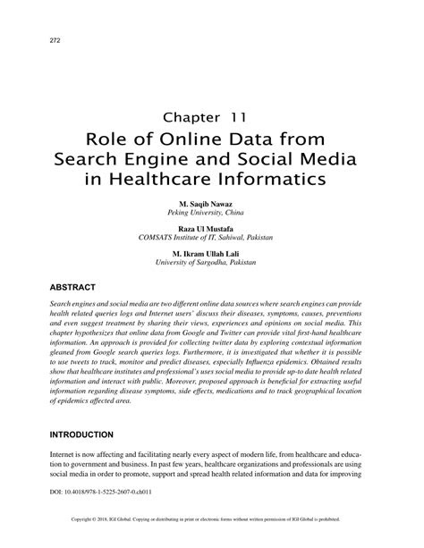 (PDF) Role of Online Data from Search Engine and Social