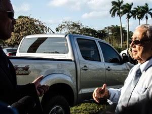 Procurador da República, Eduardo Oliveira, perguntava ao ex-delegado, como eles levavam os corpos até à Usina (Foto: Letícia Bucker/G1)
