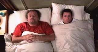 Anger Management Adam Sandler and Jack Nicholson share a bed