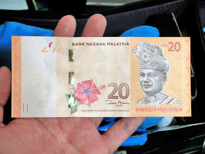 malaysia 20 dollars note