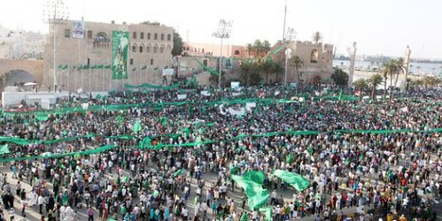 Over a million people demonstrated in Libya on July 1 in support of the Pan-African revolutionary government of Muammar Gaddafi. The imperialists and their lackeys have waged war on the country since Feb. 17. by Pan-African News Wire File Photos