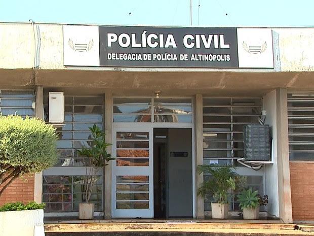 Delegacia de Altinópolis, SP (Foto: Paulo Souza/EPTV)