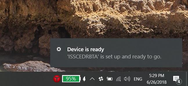 Windows 10 instaló un adaptador Bluetooth