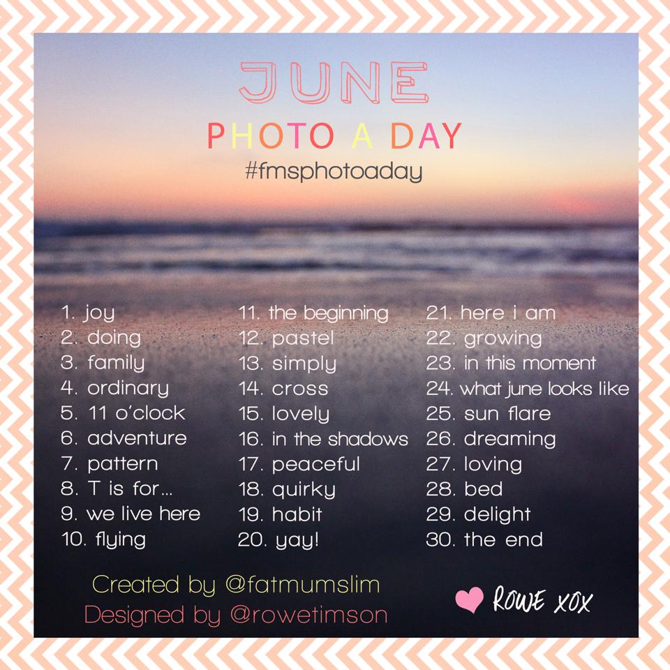 June Photo A Day list #fmsphotoaday