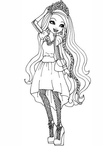 Coloriage Ever After High Holly Ohair Coloriages à Imprimer