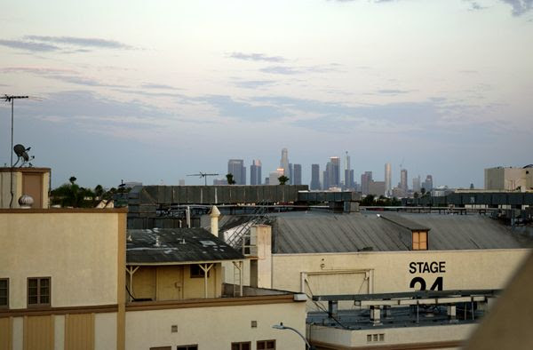 A snapshot of the downtown Los Angeles skyline as seen from Paramount Pictures' Gower parking structure...on July 31, 2017.
