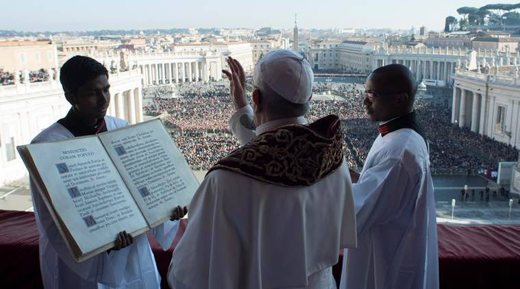 pope francis, christman, winds of war, jerusalem, christianity, pope christmas message 2017, indian express