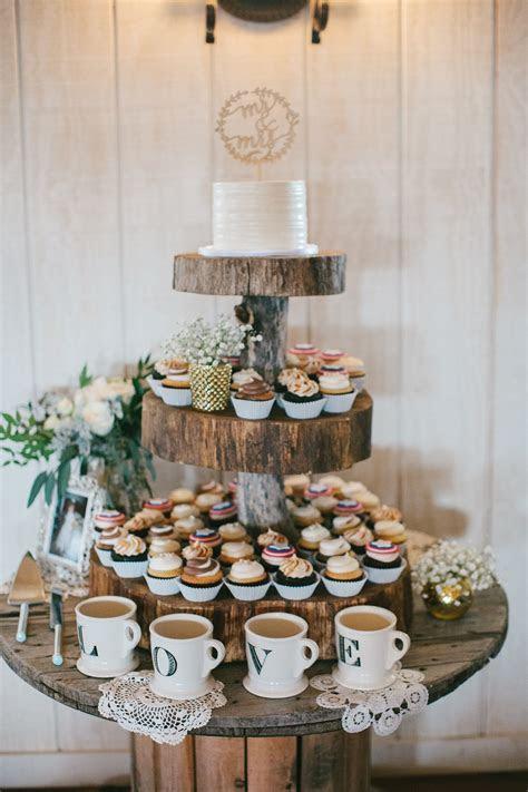 rustic wedding cupcake cake table dessert table, cake