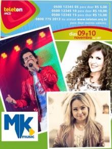 MK Music confirma participação de Aline Barros, Regis Danese e Bruna Karla no Teleton 2012
