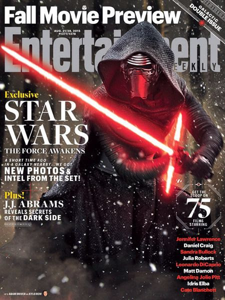 Kylo Ren (Adam Driver) graces the cover of the 2015 Fall Movie issue of Entertainment Weekly magazine.